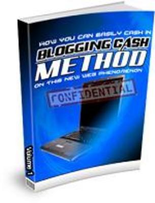 Product picture Blogging Cash method Volume 1_MRR